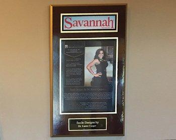 Savannah Plaque on wall