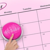 Pink Calendar reminding us it's breast cancer month