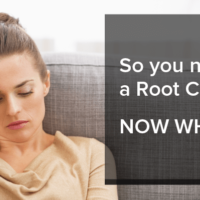 Woman thinking about getting a root canal
