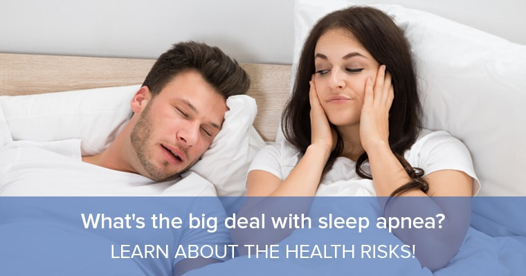 A woman who can't sleep because of her husband's sleep apnea
